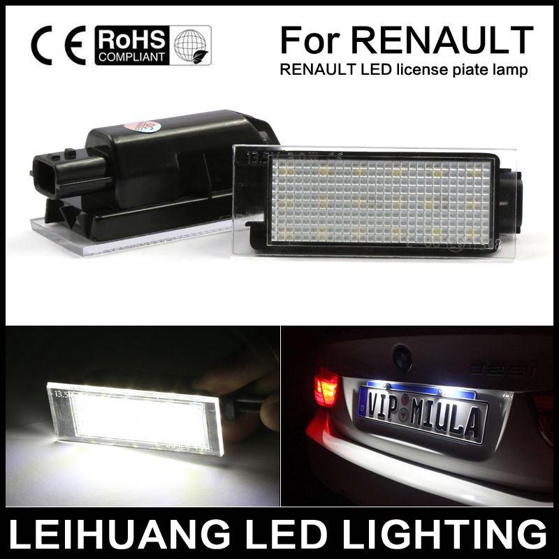 2X Error Free LED number License Plate Lights Fit For Renault Twingo  Clio Espace Megane Kombi 5D Laguna Velsatis Master 12v