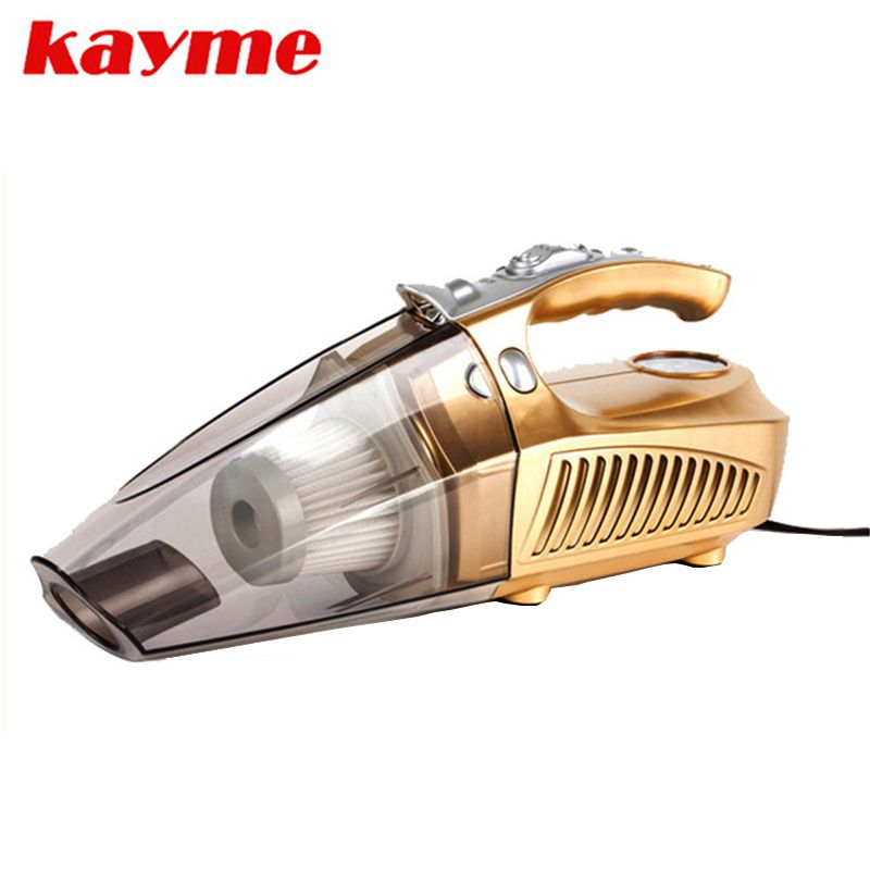 Kayme mini handheld 100W car vacuum cleaner auto portable dust brush for car 12v car air compressor tyre inflator infation pumb