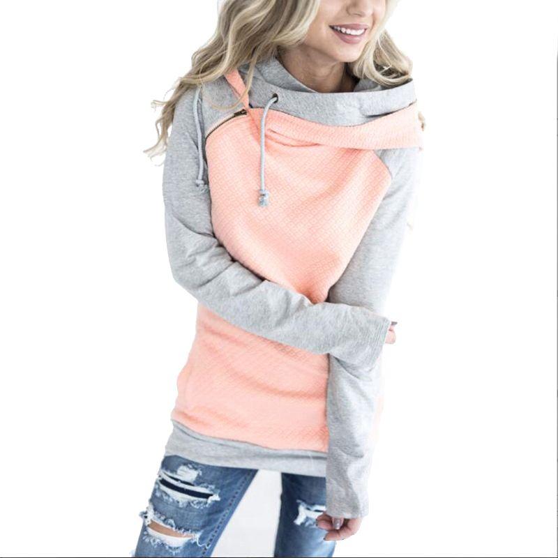 Oversize Hoodies Sweatshirts Women Pullover Hoodie Female Patchwork Double Hood Hooded Sweatshirt Autumn Coat <font><b>Warm</b></font> Hoody XXXL