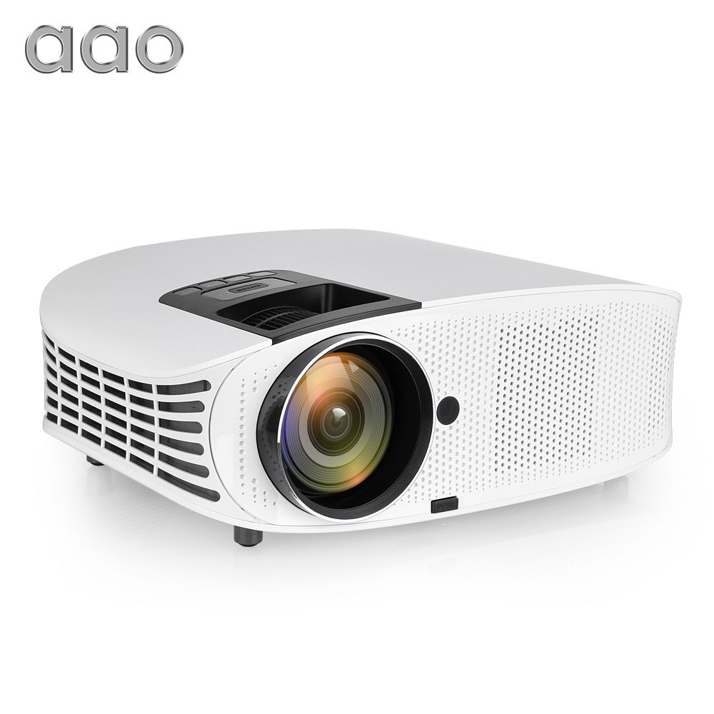 AAO 3600 Lumens HD Projector YG600 YG610 LED 3D Projector AC3 Wired Sync Display Multi Screen Projector TV Home Theater Beamer