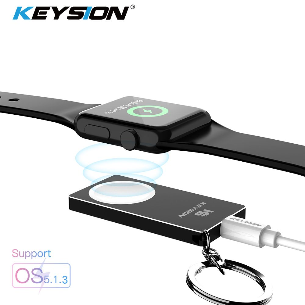 KEYSION Magnetic Wireless Charger for Apple Watch Series 4 3 2 1 Metal + Acrylic Wireless Charging Support watch OS 5.1.3 System