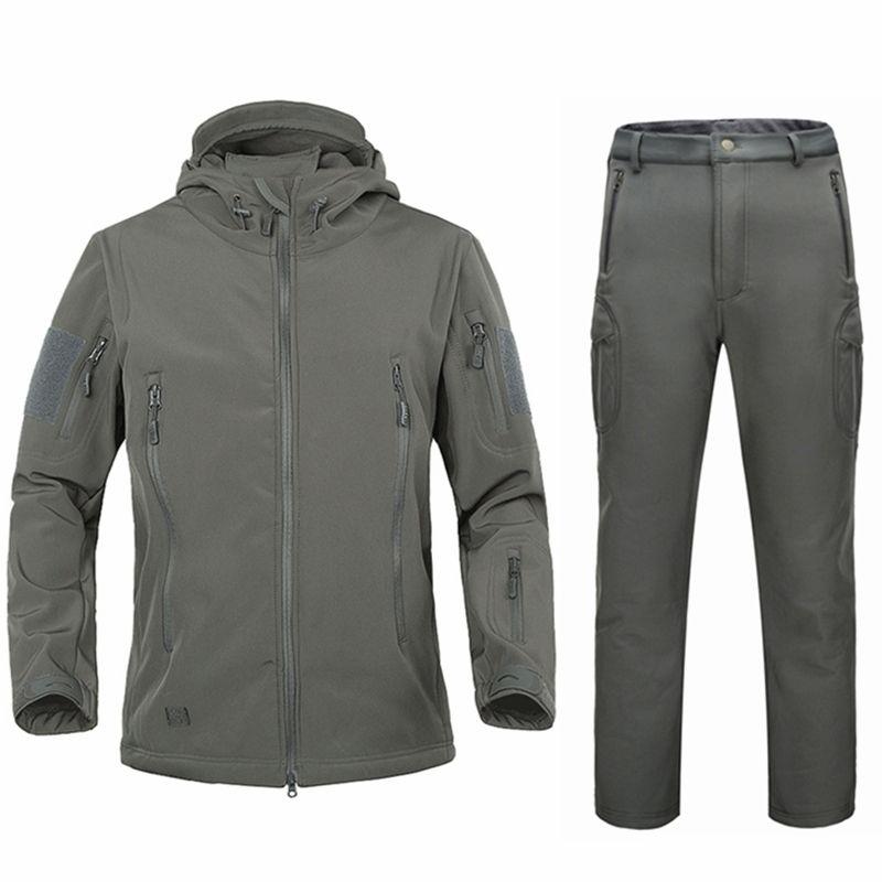 Военные TAD армия мужские зимние куртки пальто костюм зимний пальто мужчины softshell камуфляж флис теплая куртка длинные брюки костюм