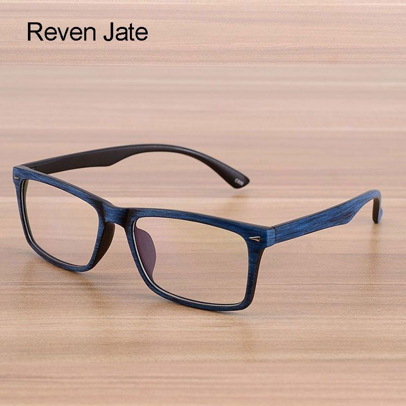 Reven lunettes hommes et femmes unisexe en bois motif mode rétro optique lunettes lunettes cadre Vintage lunettes