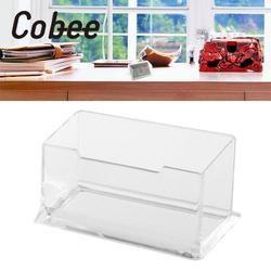 Cobee a Acrylique Portrait De Bureau Carte De Visite Boîte Boîtes Cartes Postales Transparent Titulaire Home Office Fournitures Scolaires
