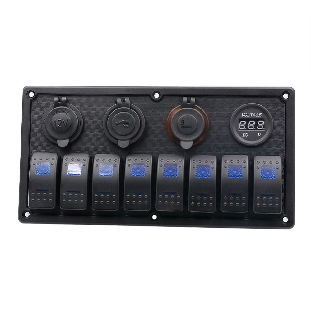 Car/RV/Boats Caravan Motorhome Automobiles 5Pin 8-Band Lens Switchs Combination Panel Switch Car-Stying Accessories 12V/24V New