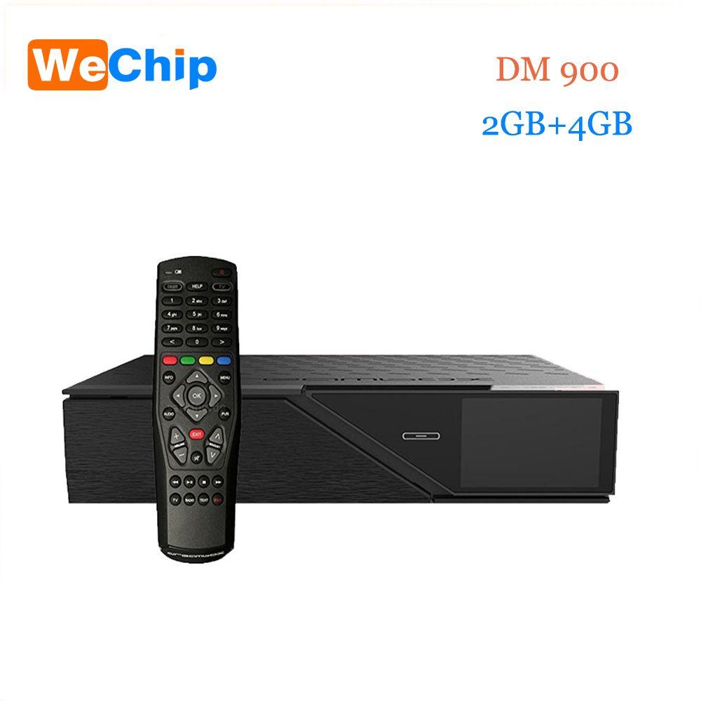 Wechip Newest Model dm900hd 4k E2 DVB-S2/C/T2 Tuner dm 900 UHD 4GB Flash 2GB RAM 2160p PVR Linux TV Receiver dm900 hd pk dm800