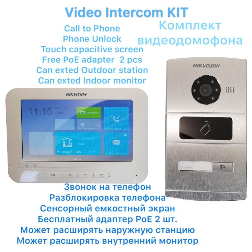 HIKVISION Video intercom KIT DS-KV8102-IM DS-KH6310-WL Enthalten 1 * outdoor station und 1 * Innen monitor IP Tür telefon Türklingel
