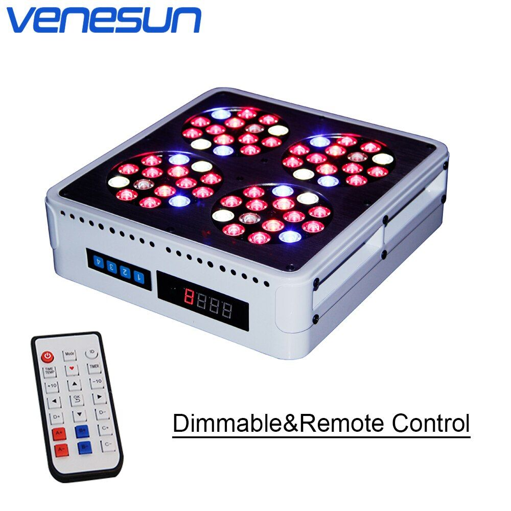 LED Grow Light Venesun Apollo 4 LED Dimmable Remote Control Full Spectrum Grow Lamps for Indoor Planting Hydroponic Greenhouse