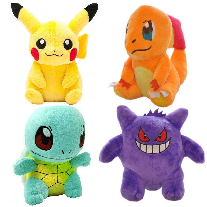 20CM pikachu Plush Toy Jigglypuff Poliwhirl Charmander Gengar toys sleeping pillow Doll For Kid baby birthday gifts Anime Soft
