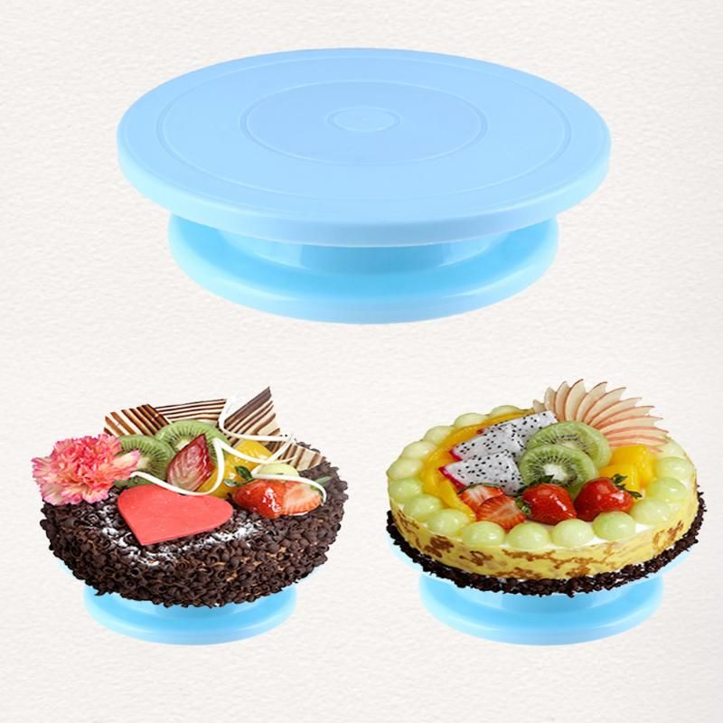 Plastic Cake Plate Decorating Turntable Rotating Anti-skid Round Cake Stand Cake Rotary Table Kitchen DIY Pan Baking Tool