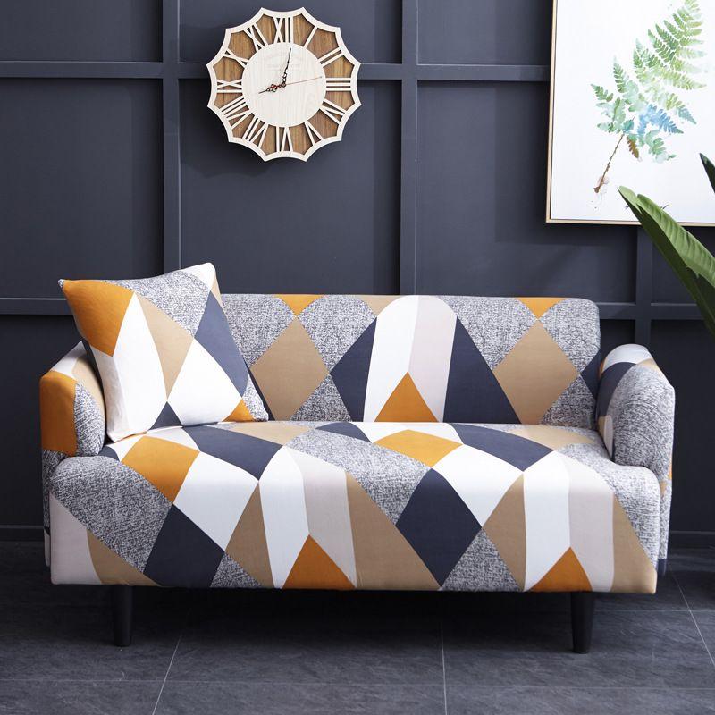 Housse de canapé élastique antidérapant couvre Polyester quatre saisons tout compris canapé extensible coussin canapé serviette 1/2/3/4 places