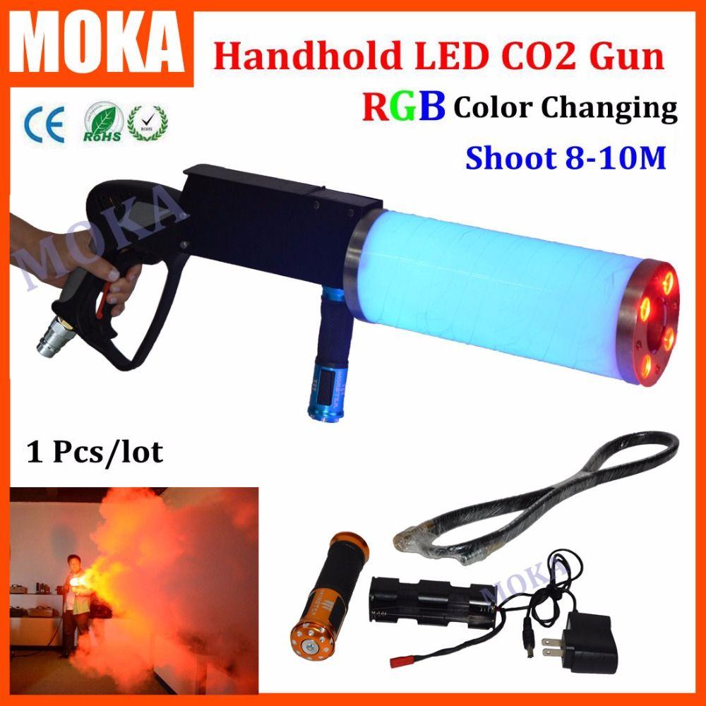 Handheld Led co2 gun kryo LED CO2 Jet maschine Pistole Spezialeffekte co2-kanone guns freies co2 gas schlauch