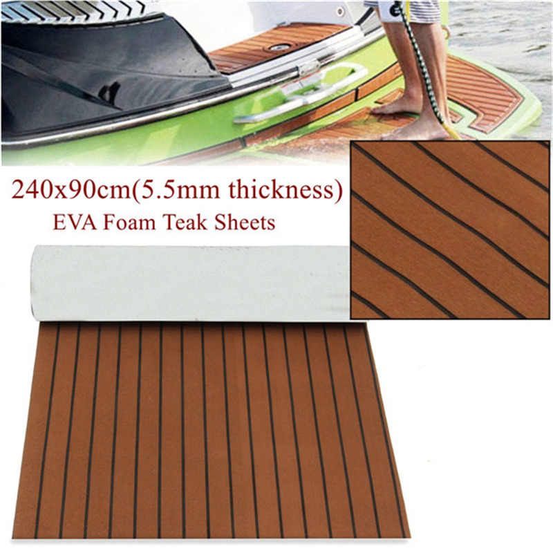 240x90cm Marine Boat Synthetic Flooring EVA Foam Yacht Teak Decking Sheet Car Carpet Floor Mat