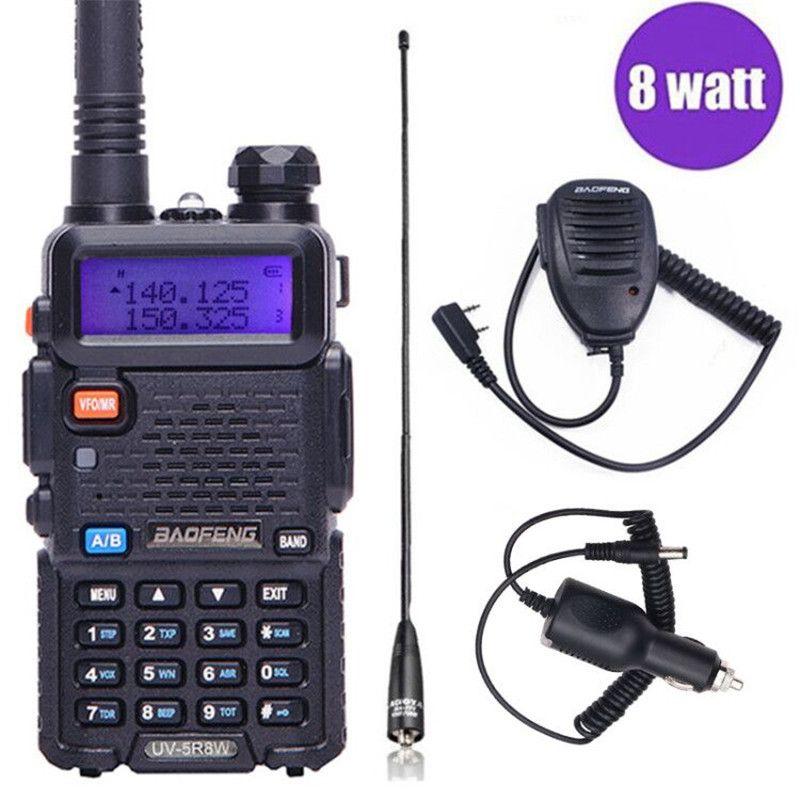 Baofeng UV-5R 8 w Haute Puissant Two Way Radio Talkie Walkie 8 Watts CB Ham Radio portable 10 km Longue Portée pofung UV5R pour La Chasse