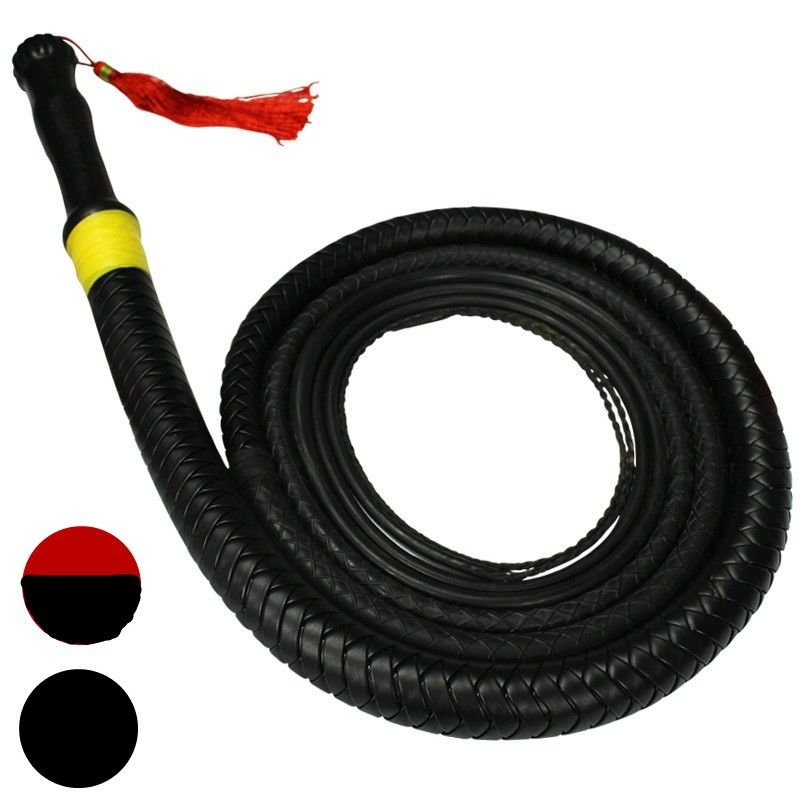 BDSM Slave Long PU Leather Rubber Whips Flogger In Adult Games For Couples , Fetish Erotic Sex Products Toys For Women And Men