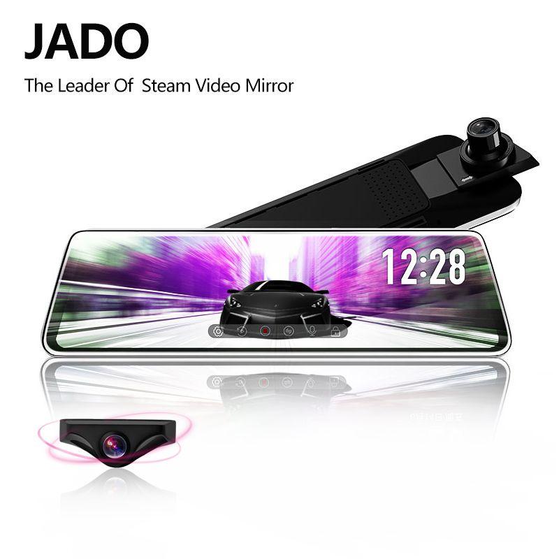 JADO D230 flux rétroviseur Dvr dash caméra avtoregistrateur 10 IPS écran tactile Full HD 1080P voiture Dvr dash cam Vision nocturne