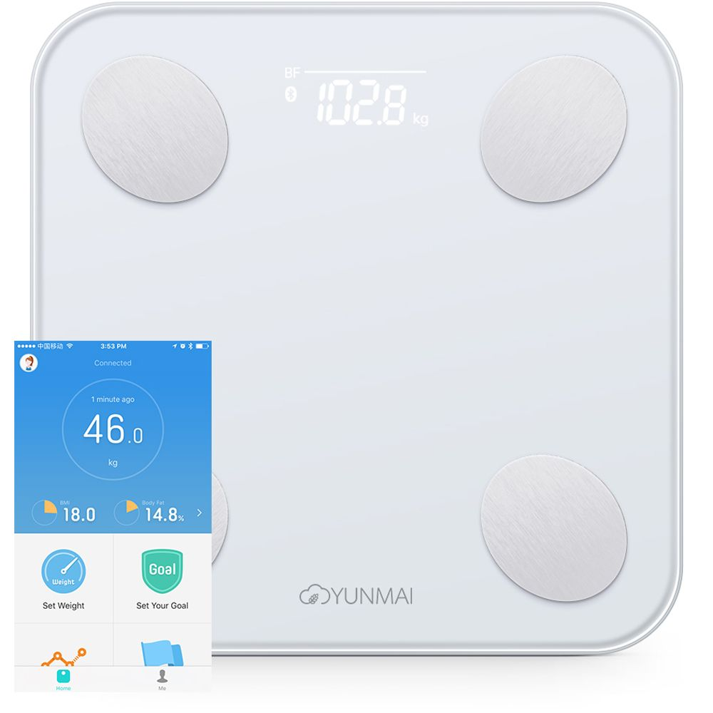 YUNMAI Mini 2 Balance Smart Body Fat Weight Scales <font><b>Health</b></font> Digital Weighting Scale English APP Control International Version