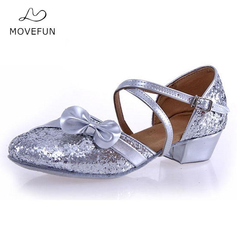 Ladies Girl's Sandals Shoes Heel 3.5cm Kids Children Buckle Latin/Ballroom/Salsa Dance Shoes for Women