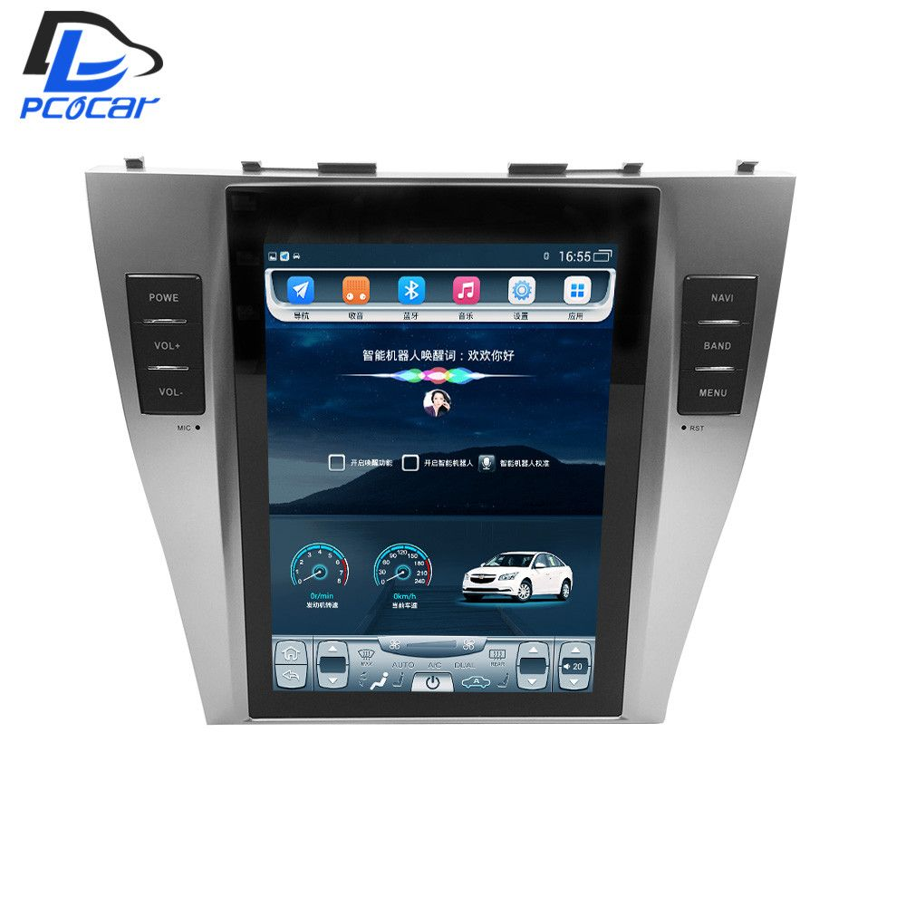 32G ROM Vertical screen android car gps multimedia video radio player in dash for toyota camry 2007-2013 years car navigaton