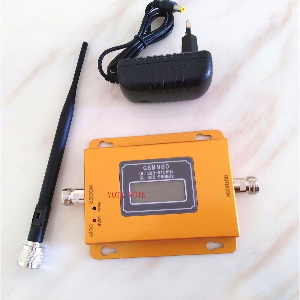 VOTK 70dbi GSM répéteur de signal mobile GSM signal booster 20dbm LCD affichage téléphone portable signal booster amplificateur avec intérieur antennes