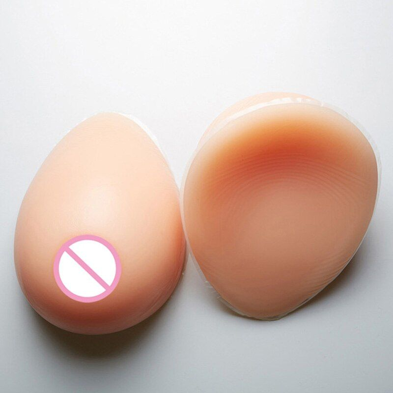 False breast 800g C cup Artificial Breasts Silicone Breast Forms for crossdresser +1 pair breasts chest special protection sets