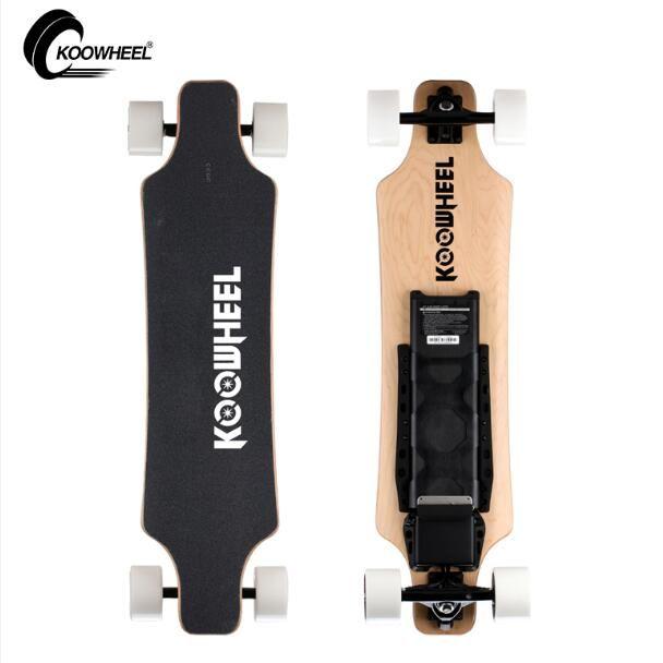 Koowheel Upgraded 2 Hub Motors Electric Skateboard 5500mAh Samsung 4 Wheel Electric Scooter Electricon Electric Longboard