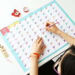 Superdeal baru 100 Hari Countdown Periodik Pembelajaran Kalender Jadwal Perencanaan Perencana Meja Hadiah Untuk Anak Studi Perlengkapan Belajar