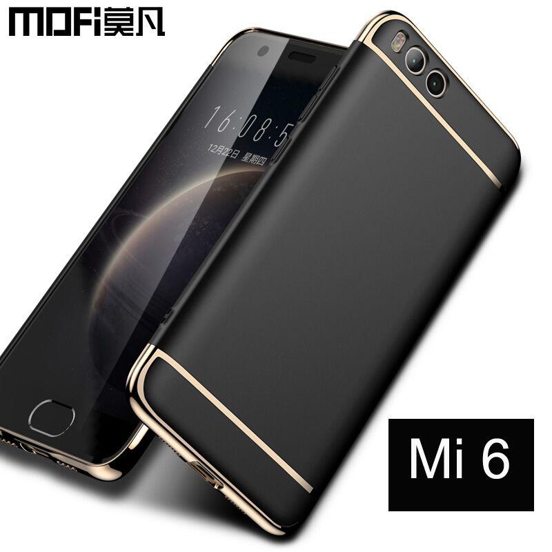 Xiaomi mi6 cas 5.15 ''couverture arrière 64 gb Mofi pour xiaomi mi 6 couverture du mi6 dur cas d'origine capas 128 gb 5.5'' xiaomi mi 6 cas
