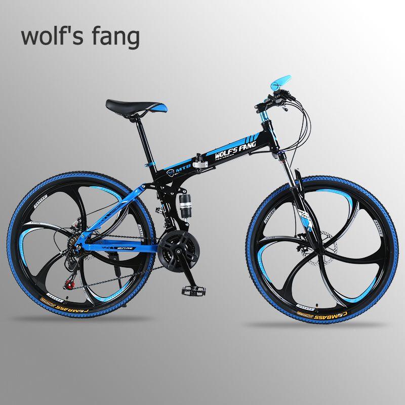 Wolf's fang VTT 21 vitesses 26 pouces vélo de route pliant Double freins à disque pliant VTT s vélo étudiant