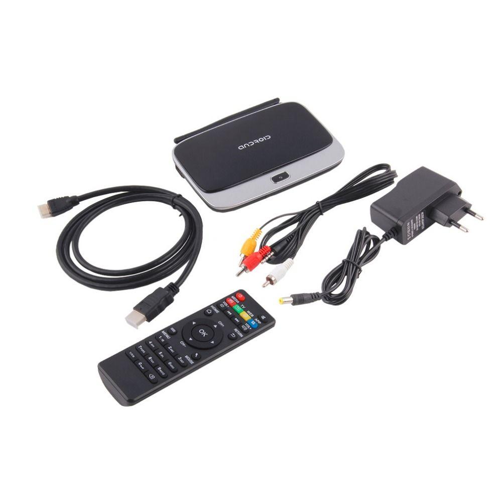 CS918 Andriod 4.4 Умные телевизоры коробка 4 ядра 2 ГБ Оперативная память 16 ГБ Встроенная память Встроенный Bluetooth 3G 4 К WI-FI Android ТВ коробка ЕС Plug Горячи...