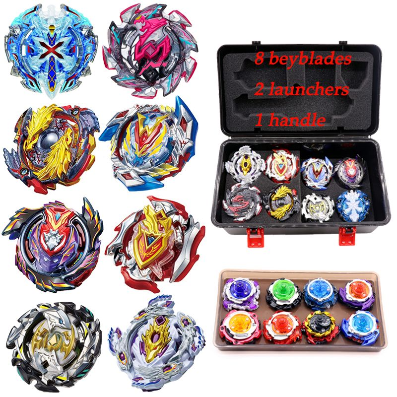 Hot Beyblade Set Bey Blade Burst 8/12pcs Beyblade+Launcher+Handle Metal Fusion 4D Spinning Top Bayblade Toys Sale For Children
