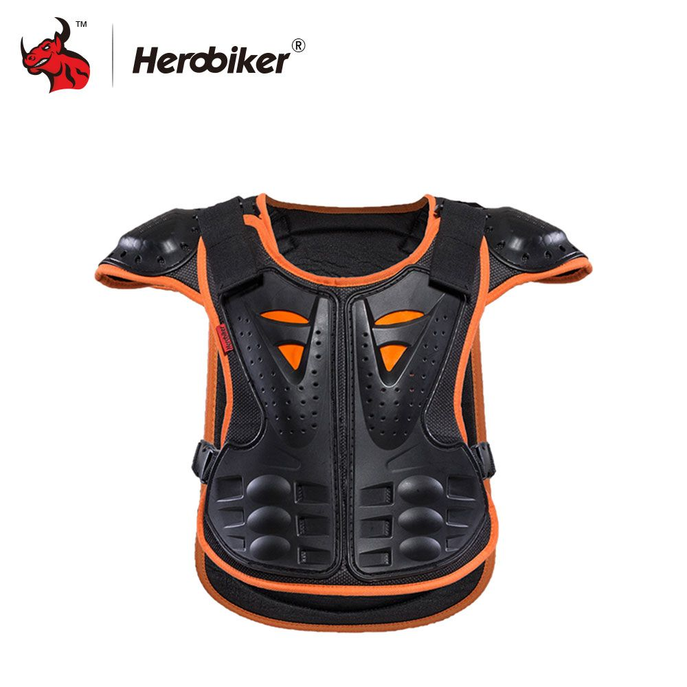 HEROBIKER Children armor vest Protective Kids Body Armor skate board skiing pulley Kids jackets Suitable for 4-12 age