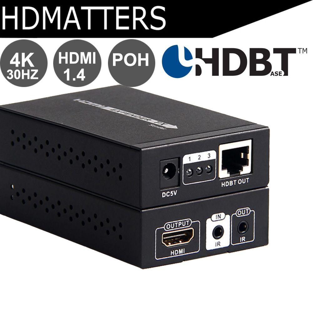 POH HDBaseT HDMI Extender 4KX2K 3D HDBaseT HDMI IR Remote LAN Extender Repeater over RJ45 CAT5E/6 HDMI 1.4V Up To 70M