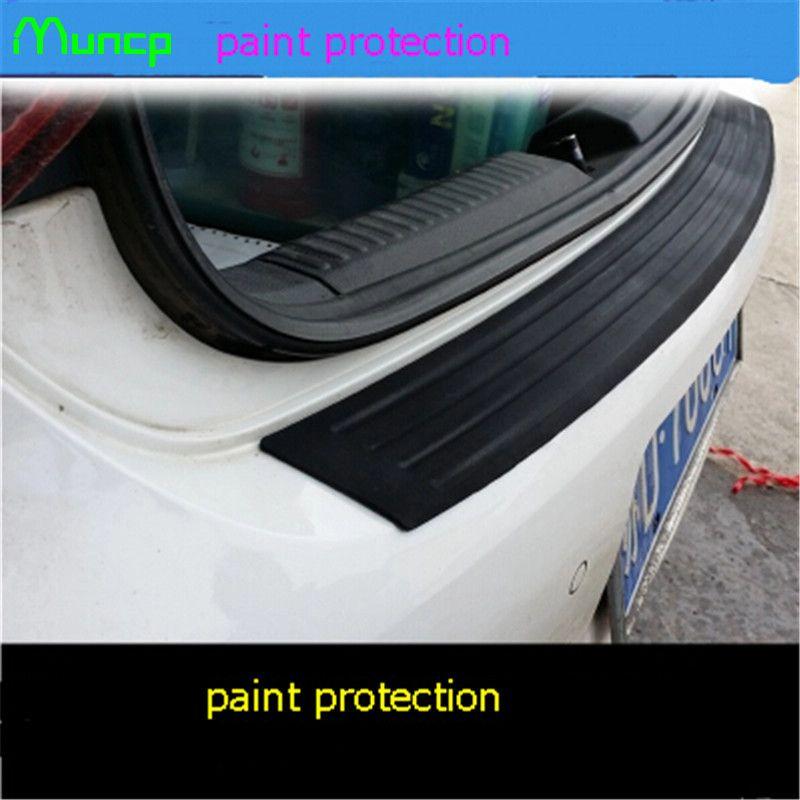 Muncp Auto Styling Gummi Hinten Schutz Stoßstange Stamm Schutz Trim Abdeckung Streifen Für Lexus ES250 RX350 330 ES240 GS460 CT200H CT DS