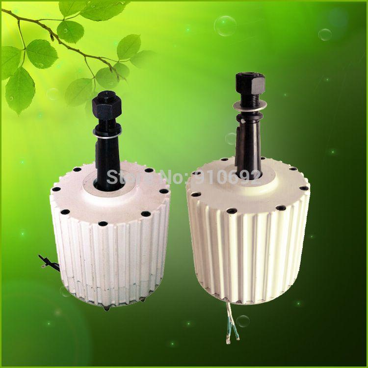 Heißer verkauf niedrige start drehmoment 2kw AC 96V rare earth permanent magnet generator 48v 120v