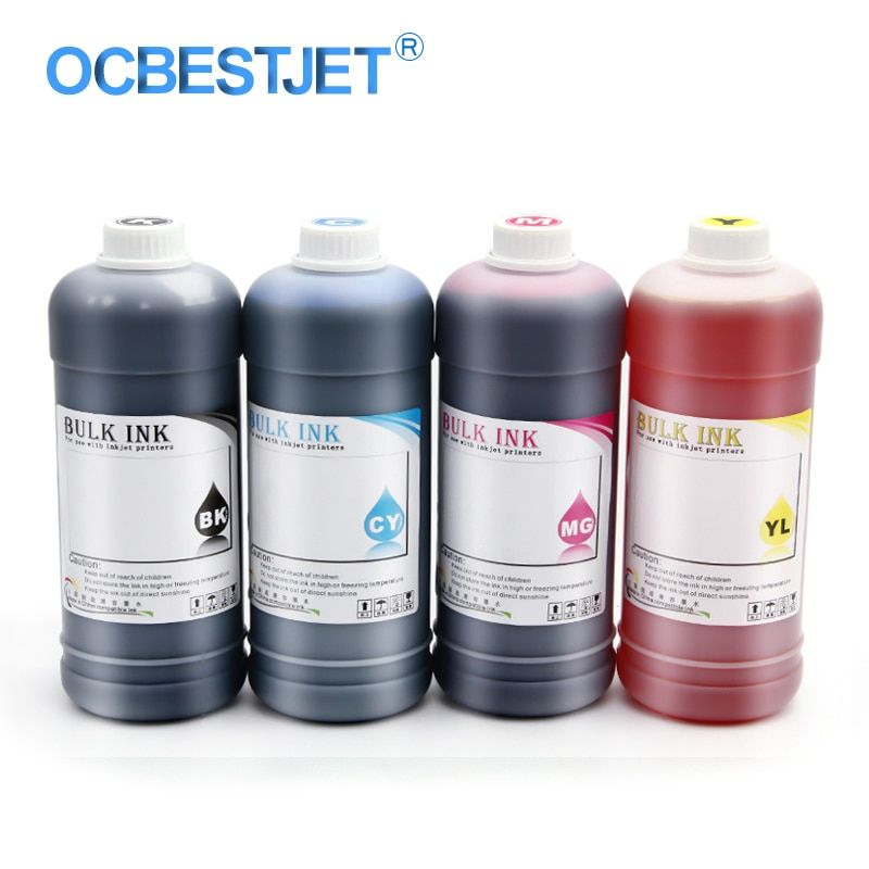 500ML/Bottle Universal Dye Ink For HP Inkjet Printer T610 T620 T770 T790 T1100 T1120 T1200 T1300 T2300 500 510 800 Z2100 Printer