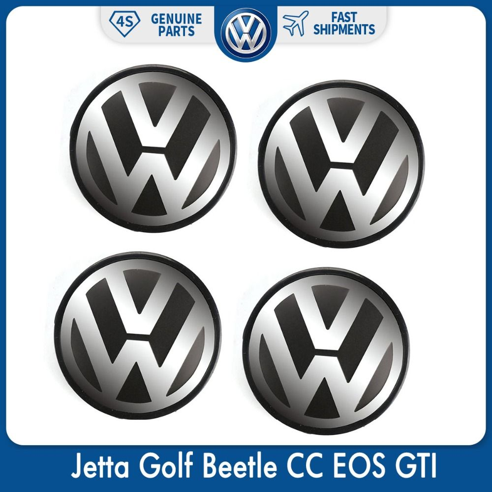 4pcs/Set 56mm Logo Emblem Badge Wheel Center Hub Cap for VW Volkswagen Jetta Golf Beetle CC EOS GTI 1J0 601 171