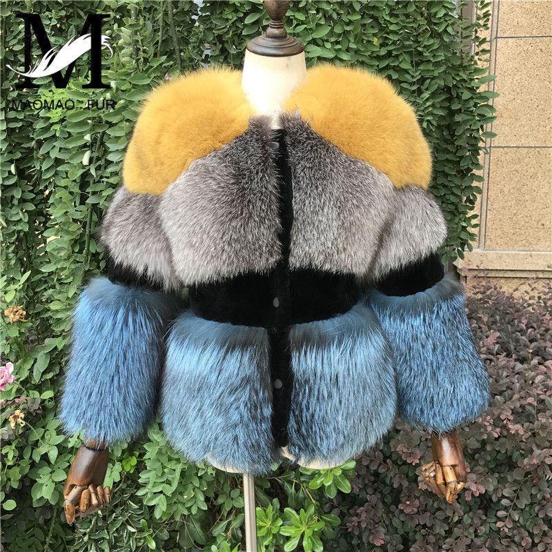 Women Winter Fox Fur Jacket Natural Silver Fox Fur Coat Female High Quality Ladies Real Fur Overcoat