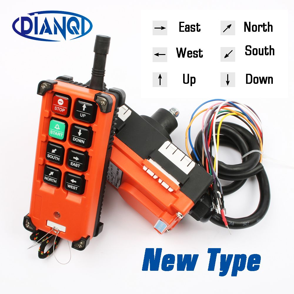 Industrial remote switches Hoist industrial Direction wireless Crane Radio Remote System switch 1receiver+ 1transmitter F21-E1B
