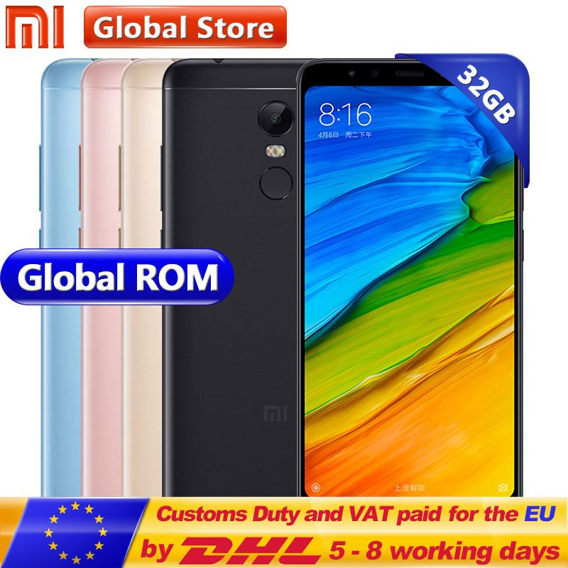 Original Xiaomi Redmi 5 Plus 32GB ROM Mobile Phone 3GB RAM Snapdragon 625 Octa Core 5.99 inch 18:9 Full Screen MIUI 9 4000mAh