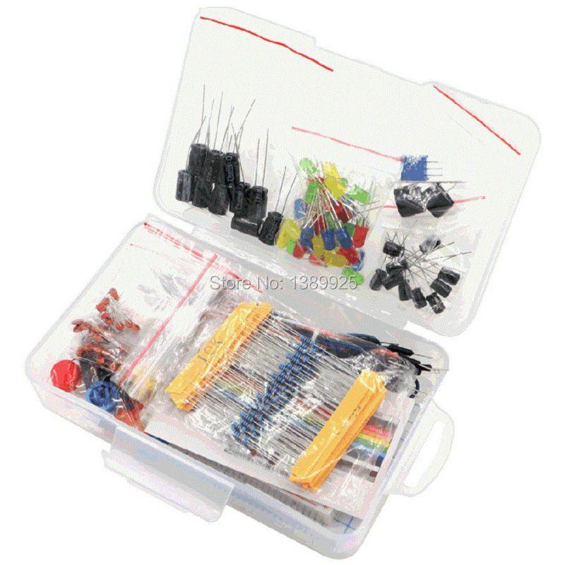 Starter kit для Arduino резистор/LED/конденсатор/перемычек/макет резистора Комплект с коробку