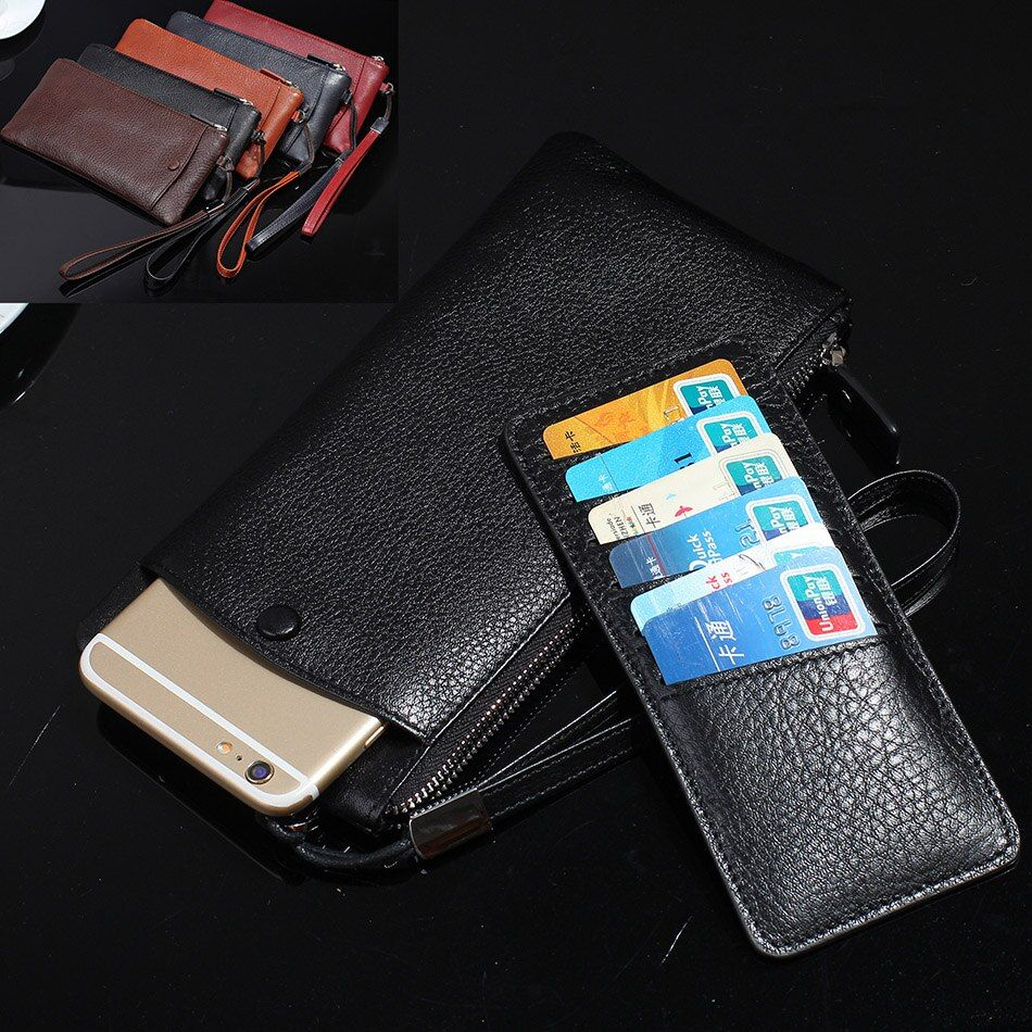 2in1 Wristband Zipper Genuine Leather Cover Case For Meizu MeiBlue u20 5S Mx6 Pro 6 5 Plus M3 Note MX5 M5 Card Cases  B89