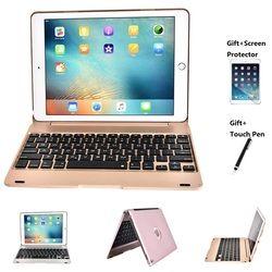 Portátil plegable teclado de Bluetooth Wireless diseño del caso del soporte plegable para el iPad Pro 9,7 pulgadas iPad aire 1 2 nuevo iPad 2017 2018 9,7