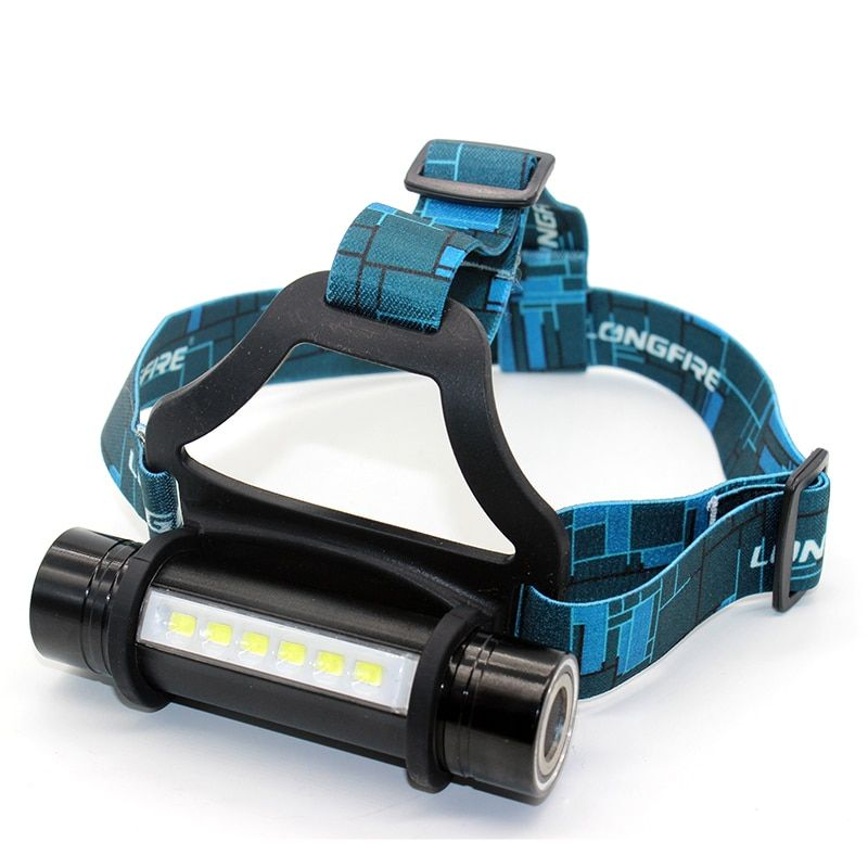 6 LED + CREE Q5 outdoor camping <font><b>headlamp</b></font> waterproof 3 modes head band lamp flashlight cree 18650 led head lamp light for camp