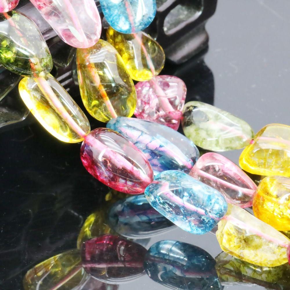 2019 bijoux irréguliers 10x16mm Tourmaline multicolore perles en vrac brin de mode bijoux faisant Design pierre naturelle fille cadeau