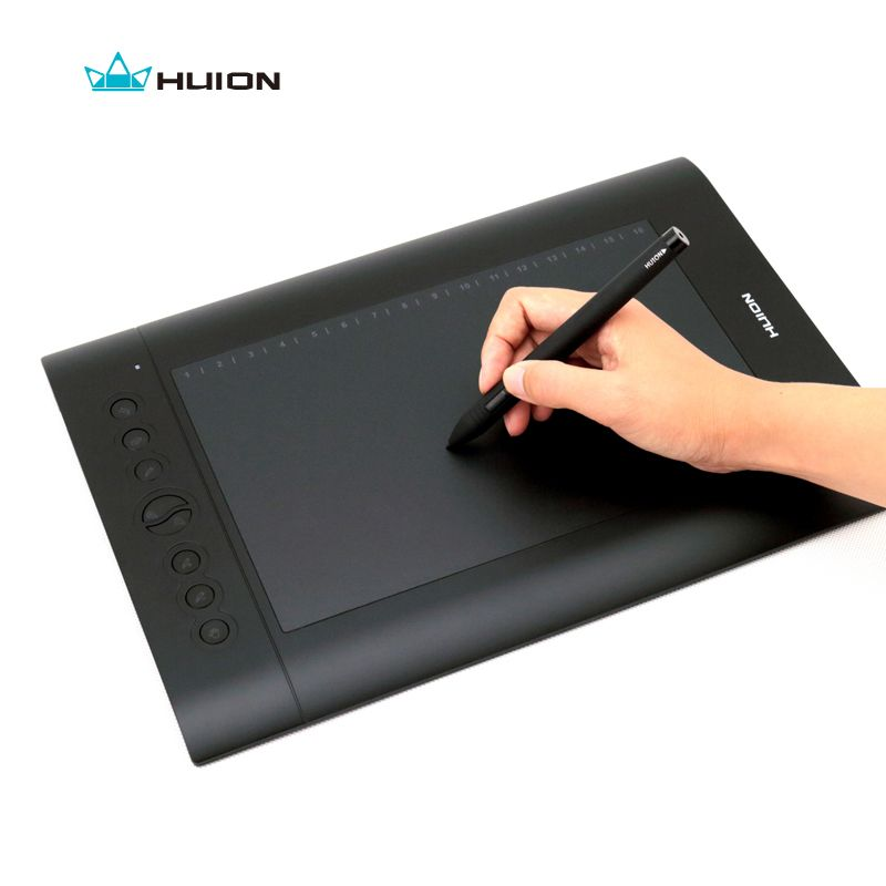 Free Shipping Hot Sale Huion Digital Pen Tablets H610 PRO 10 Graphics Tablet Painting Tablets Drawing Tablet With Pen Black