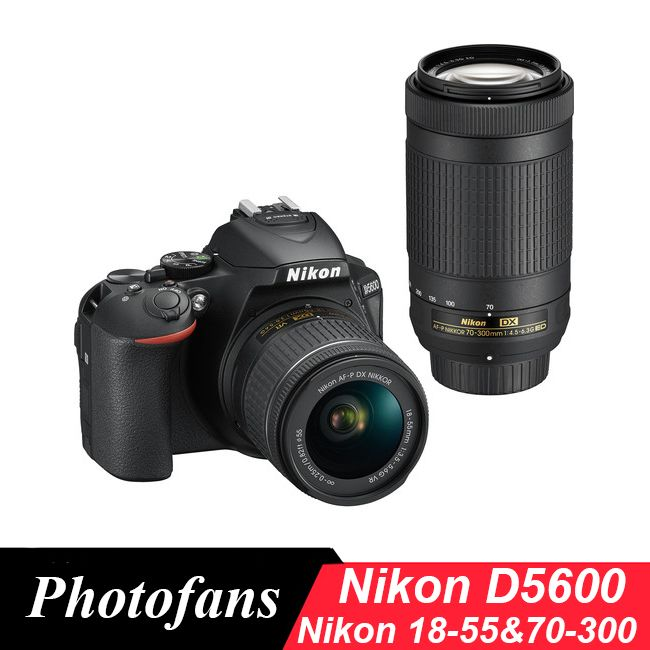 Nikon D5600 DSLR Camera with 18-55mm and 70-300mm Lenses (New)