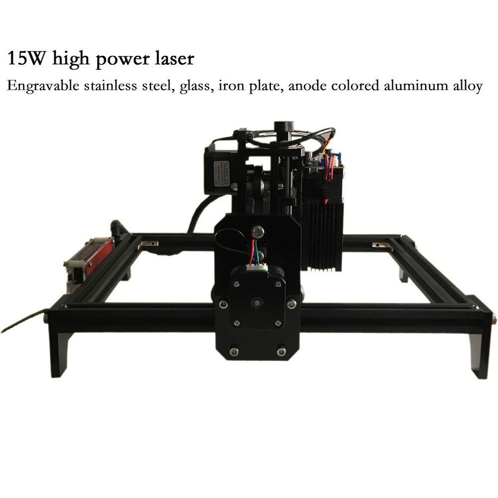 15 W CNC Gravur Maschine mit 15000 mw Laser Kopf Holz Router PCB Glas Metall Fräsen Maschine Holz Carving Maschine DIY Mini CNC