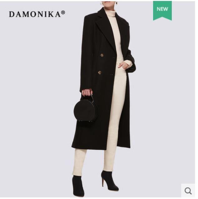 Doppelseitige kaschmir mantel für frauen neue 2018 medium lange dunkelgrün herbst und winter woll mantel für frauen über die k