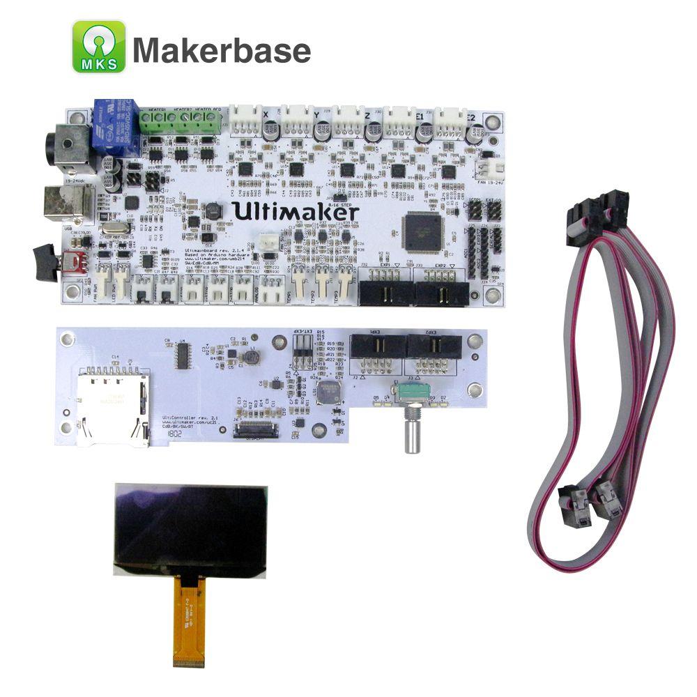 Ultimaker V2.1.4 mainboard mit OLED bildschirm kit UM2 smart controller board schaltung mutter bord PCB elektronische control panel